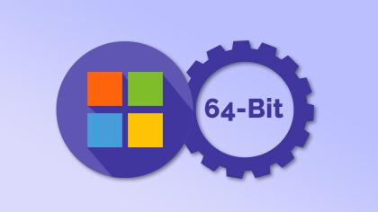 Vektrisk 64 -bitars support