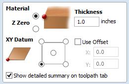 Vectric Aspire Material Setup