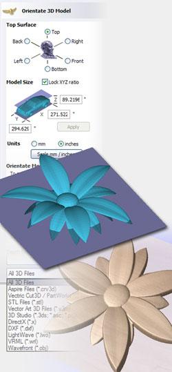 Vectric Aspire Import 3D Models & Clip Art