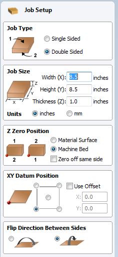 Vectric Aspire Job setup